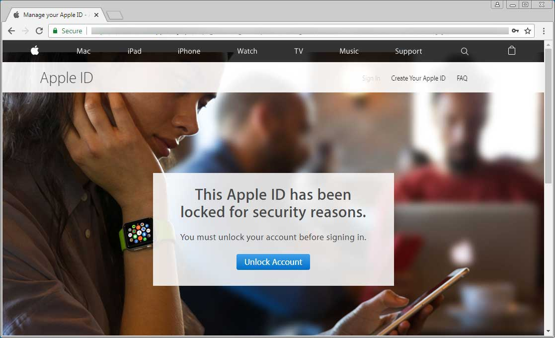 Next page stating your Apple ID is locked out and you must unlock it