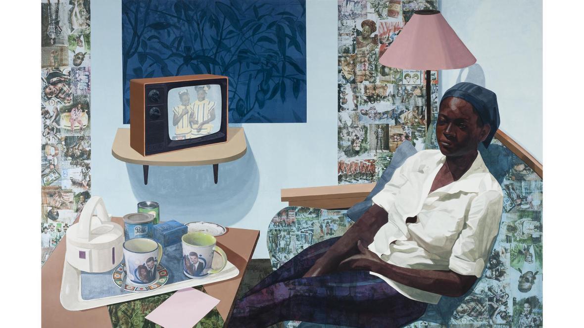Intimate Super Blue Omo by Njideka Akunyili Crosby