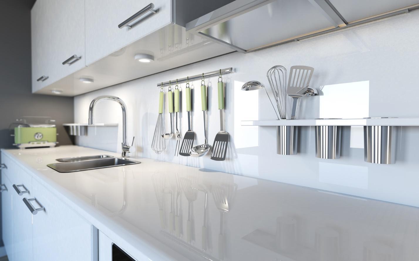 Изображение выглядит как внутренний, стена, кухня, белый  Автоматически созданное описание