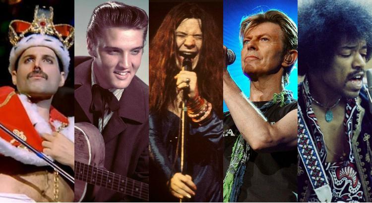 Astros do Rock n Roll - Elvis Fred Joplin Hendrix Bowie