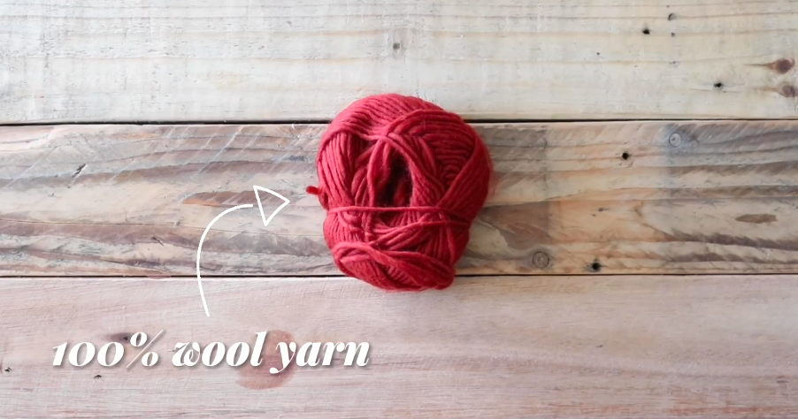 Wool yarn to make a dryer ball
