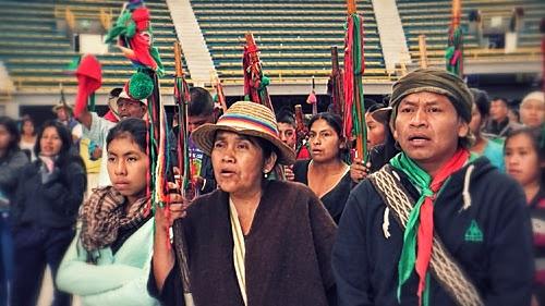 La minga voz de los  pueblos indígenas del Cauca y Colombia