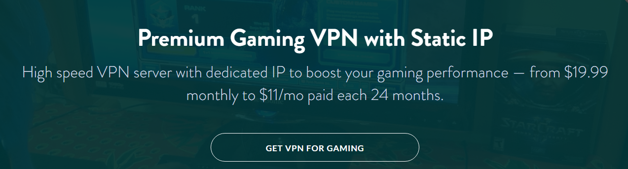 Best Gaming VPN with dedicated personal gaming VPN server