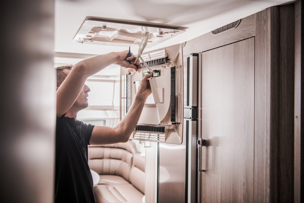 When buying a used camper, check all its electrical systems to ensure they work.