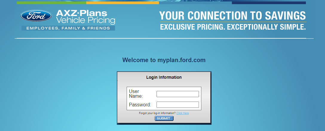 MyFordBenefits Login