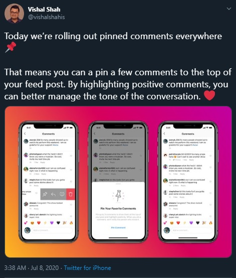 You Can Now Pin Comments to Your Post on Instagram