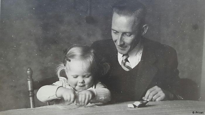Георг Гляйс со старшей дочерью Утой