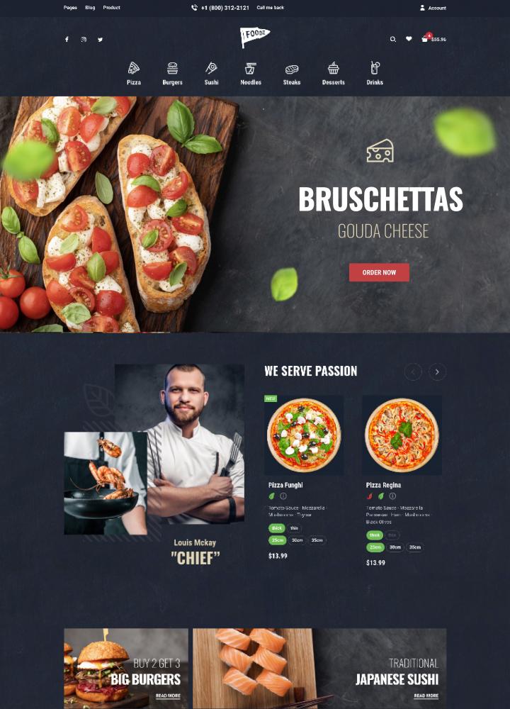 Woocommerce themes Foodz