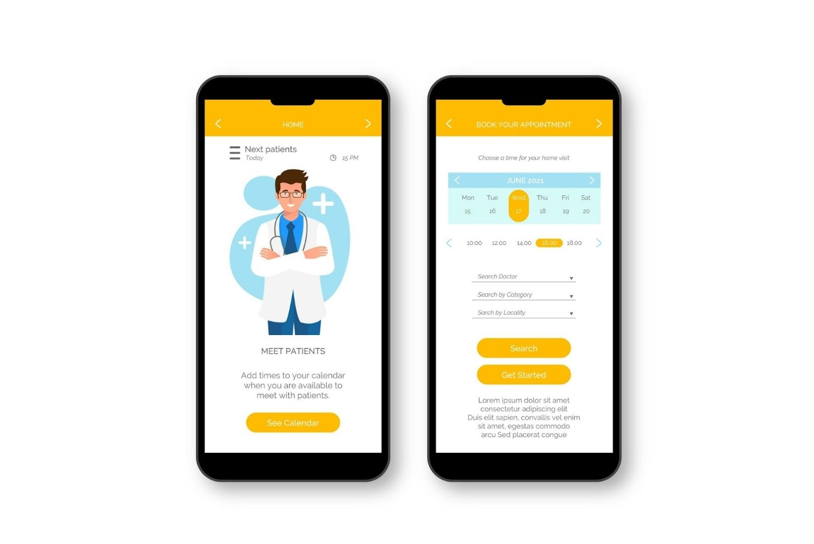 Healthcare mobile app for doctors