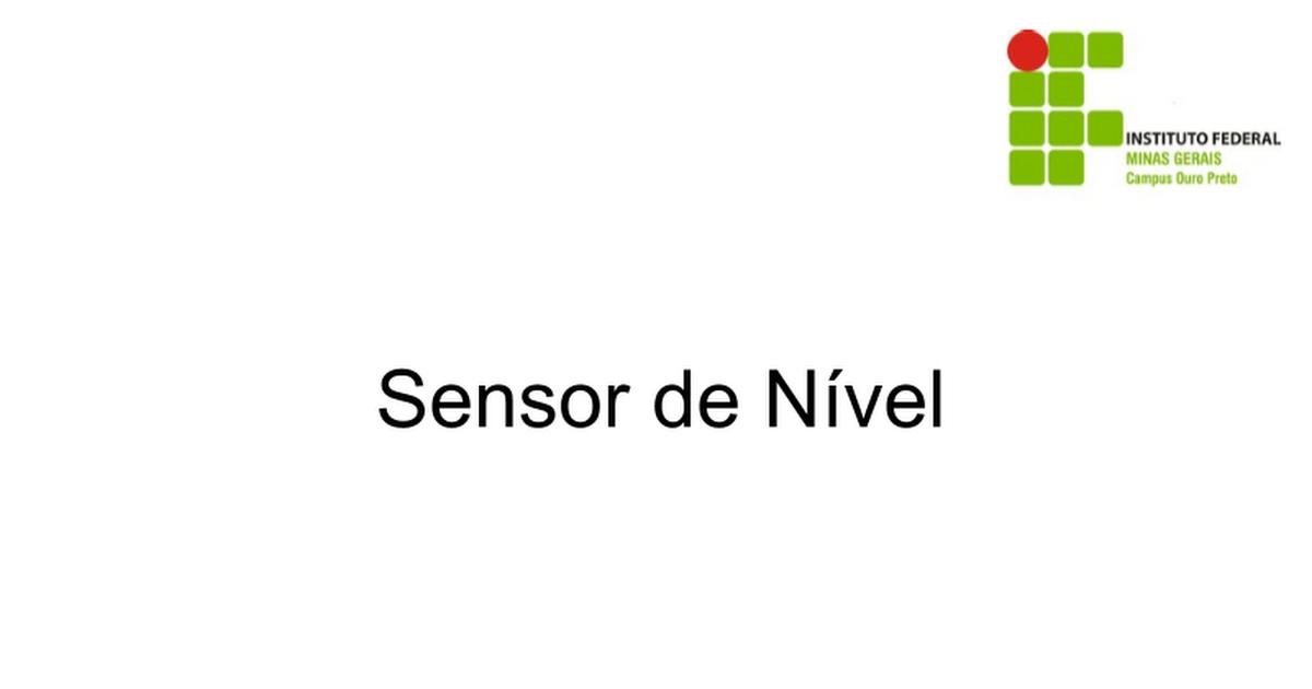 Sensor de Nível - Google Slides