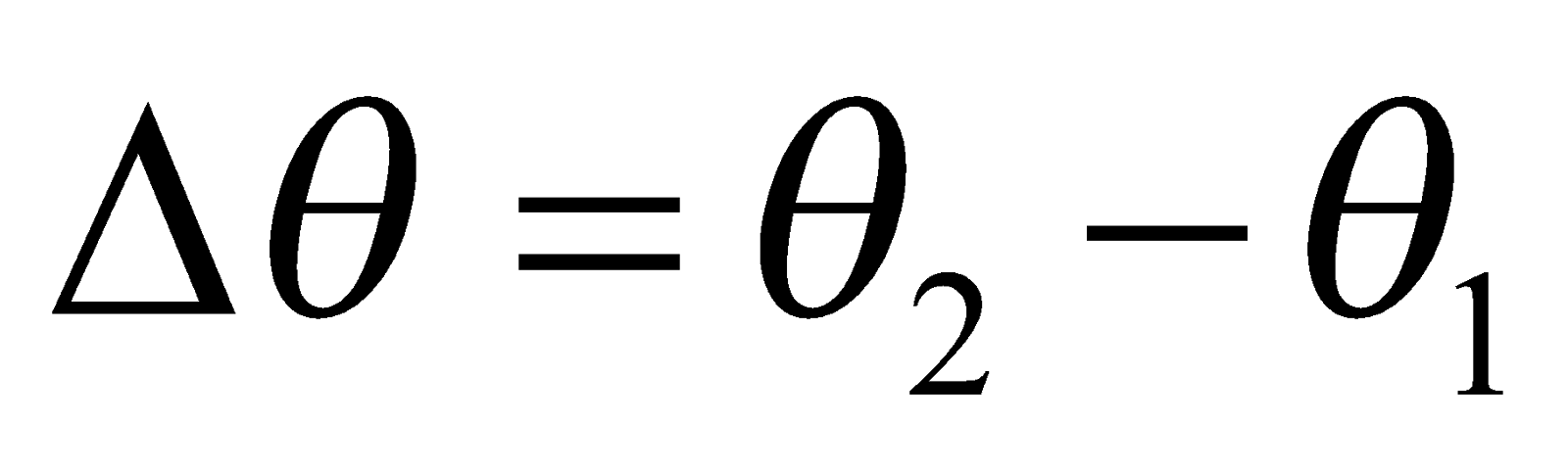 Angular displacement Formulas