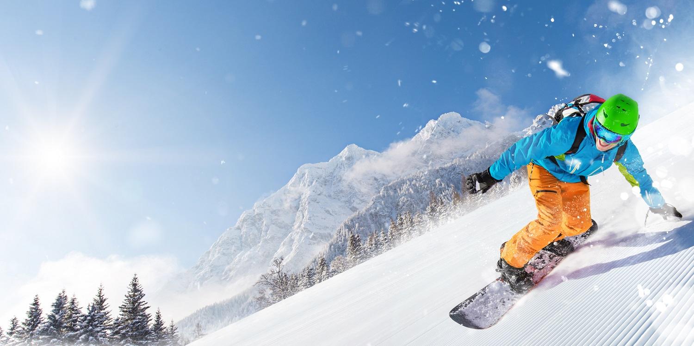 Snowboard en pista