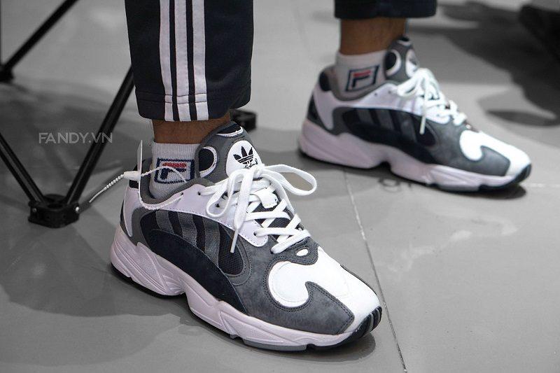 Giày Adidas Yung 1 White/Dark Grey