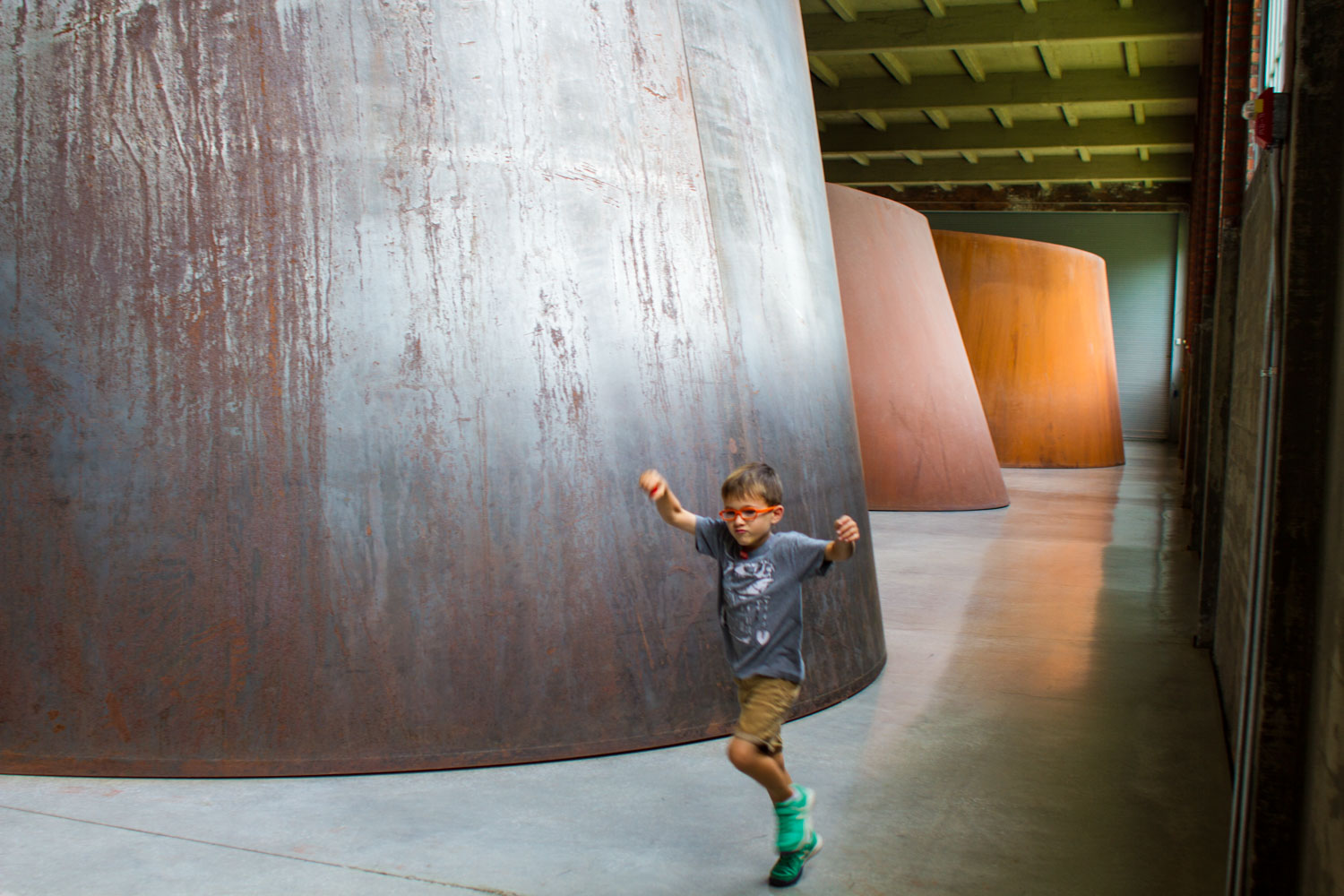 Torqued Ellipse by RIchard Serra at Dia:Beacon