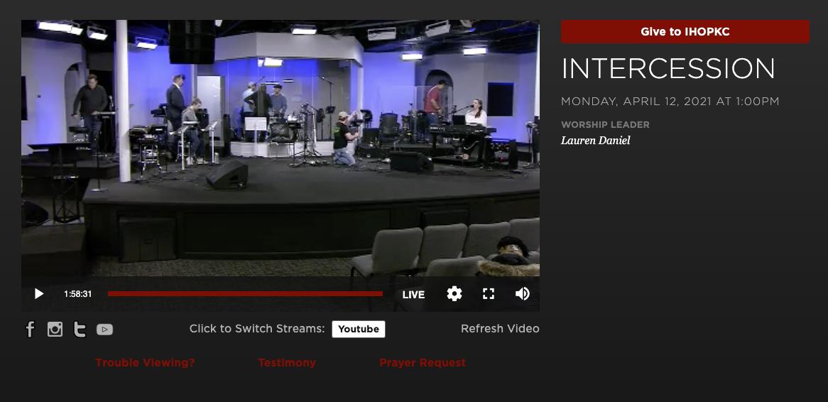 International House of Prayer's Livestream Screenshot