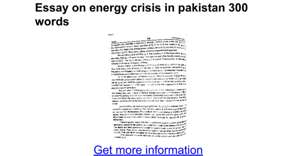 essay on energy crisis in words google docs