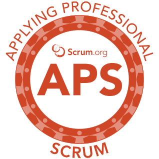 Applying Professional Scrum Logo