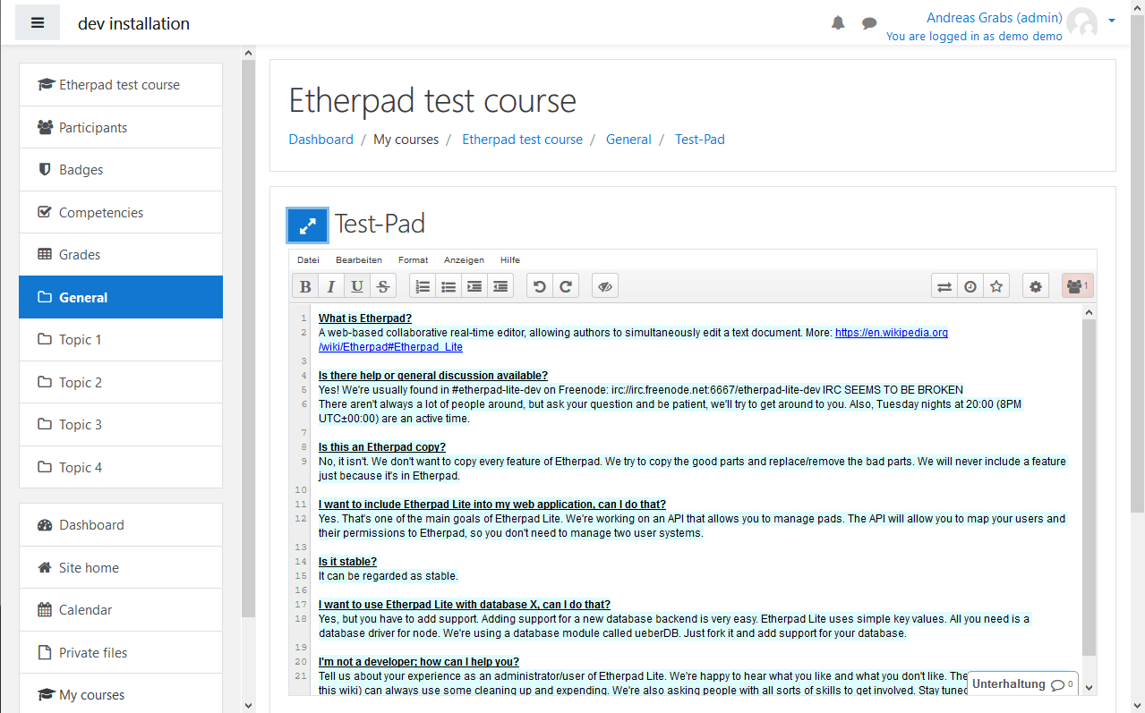 Etherpad giúp ghi chú các cuộc họp