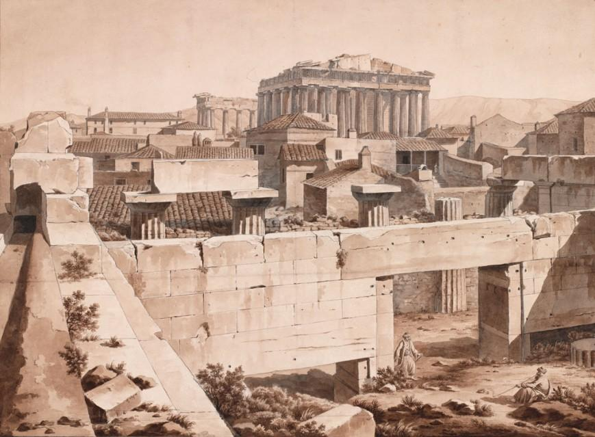 Άποψη του Παρθενώνα από τα Προπύλαια, Αθήνα, 1805 / The Packard Humanities Institute