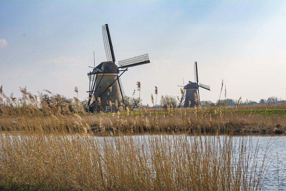 Holland, Mühle, Windmühle, Reisen, Wasser, Tour