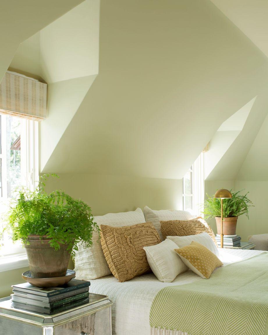 A Cool Light Green Bedroom Design