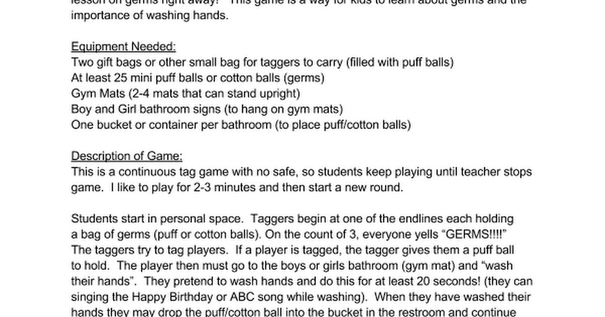 Bathroom Signs Gym germ tag (hand washing) - google docs