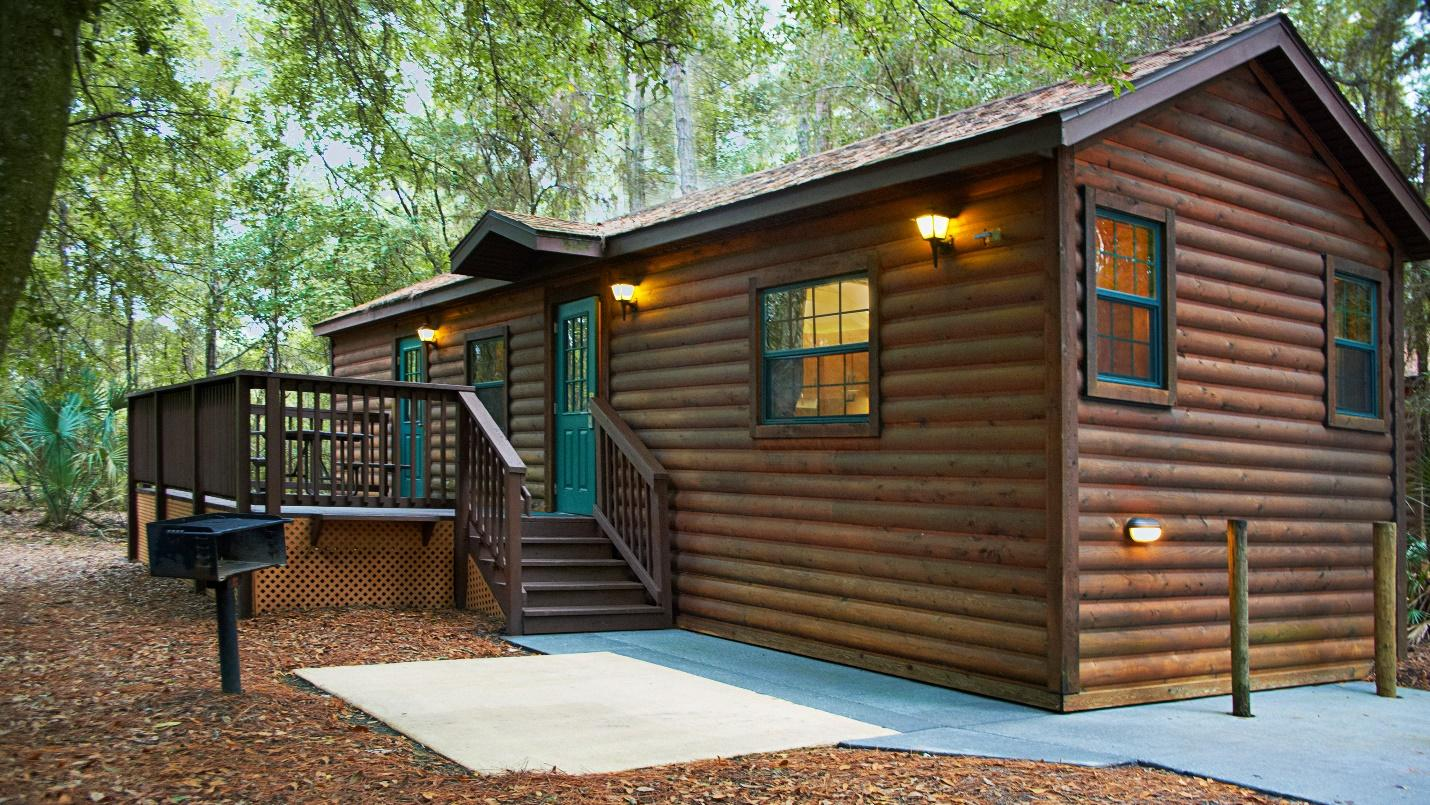 stay at a cabin at Disneys campground resort