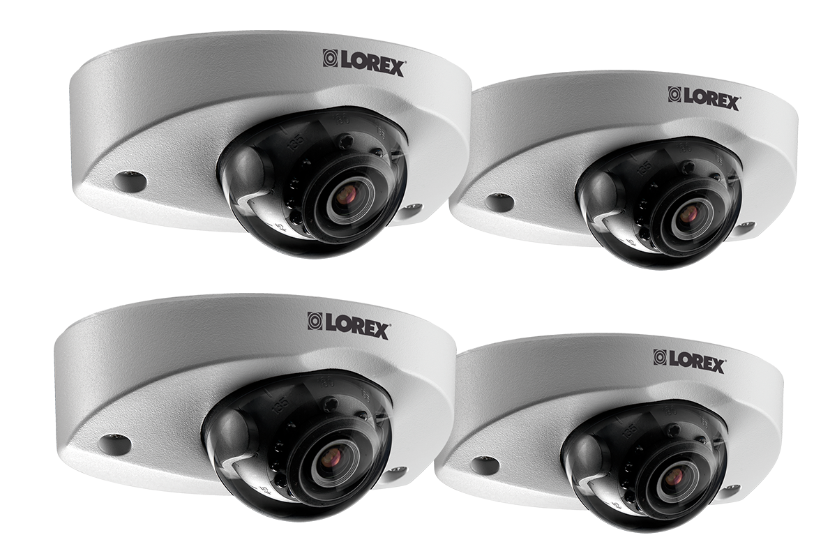 Audio security camera 4-pack