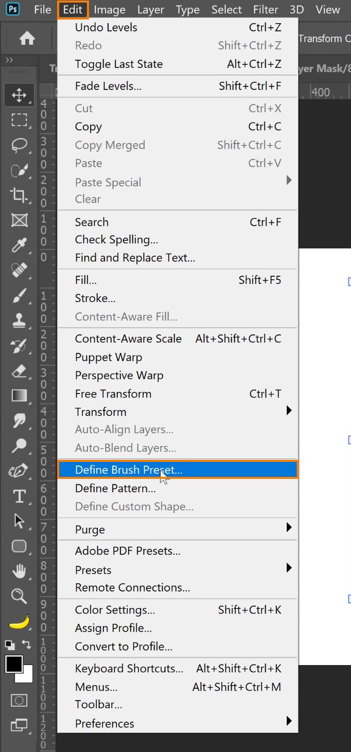 Choose Edit > Define Brush Preset
