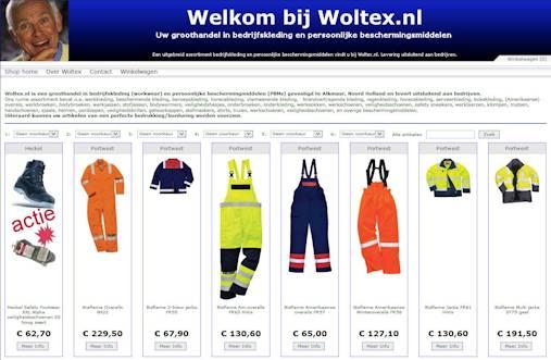 Woltex.nl shop werkkleding