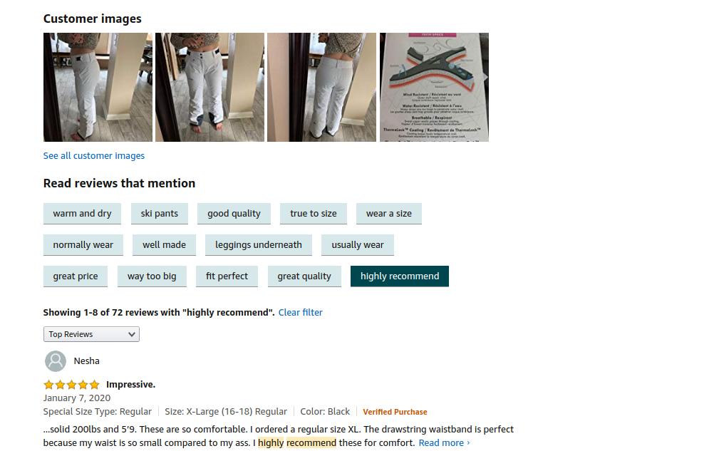 Exact keyword match for Customer Reviews - (c) amazon.com