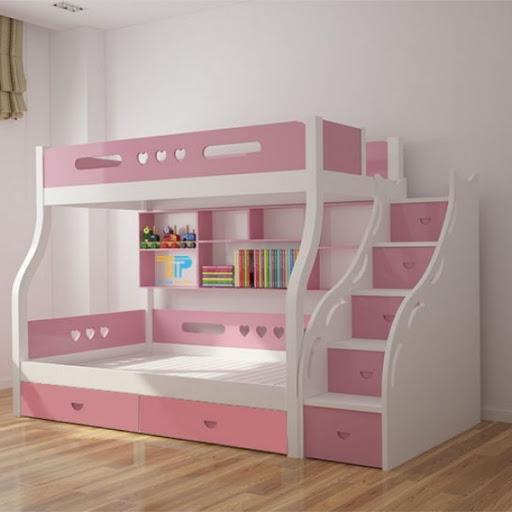 Giường tầng trẻ em có nhiều tiện ích