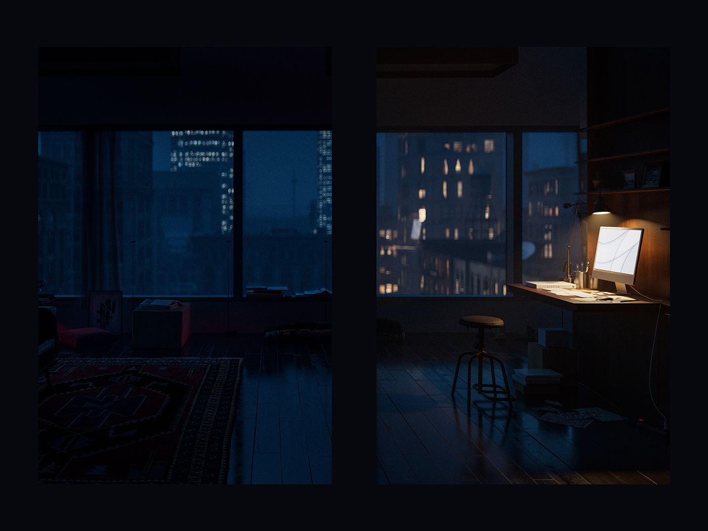cinema4d corona Film   her joaquin phoenix red corona renderer night Quixel Megascans