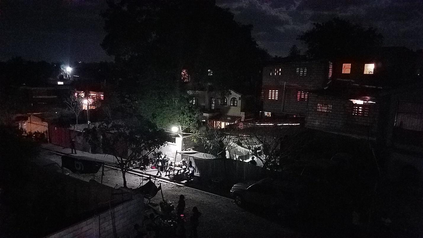 A view of a city at night  Description automatically generated