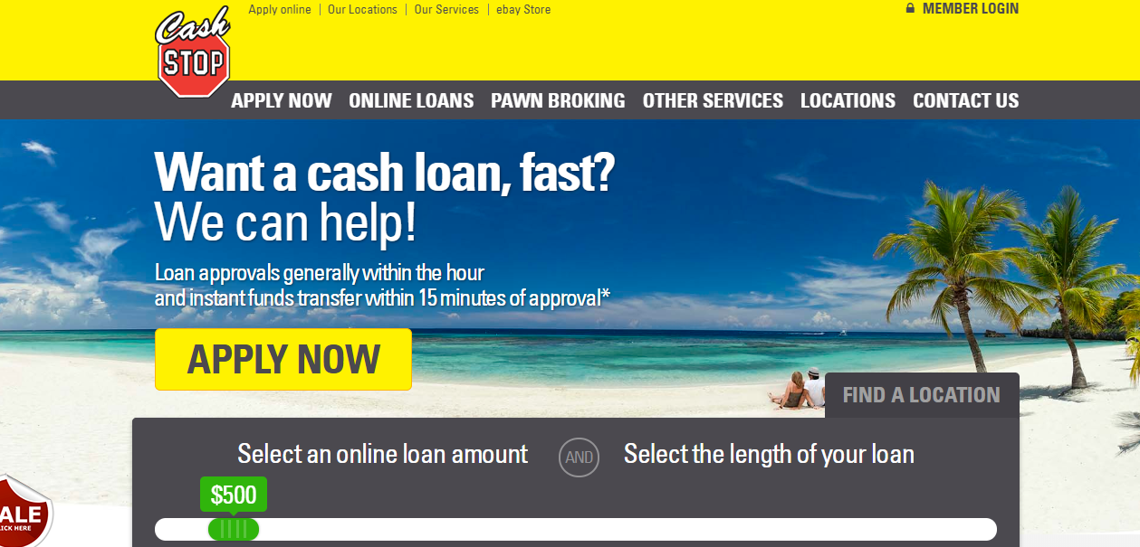 cash stop application form