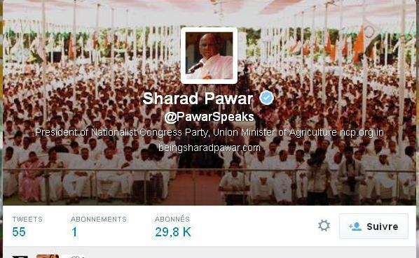 Sharad Pawar Twiiter A/c