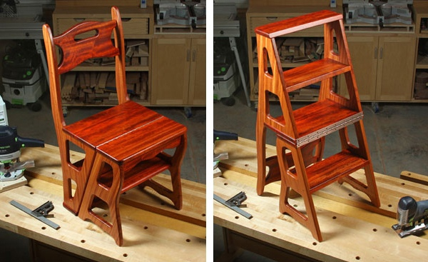 Лакированный стул-стремянка