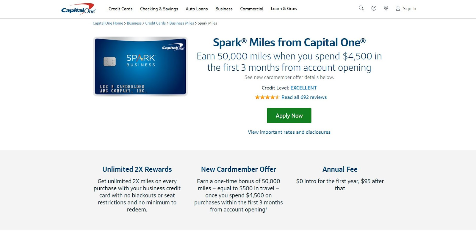 Capital One Spark Miles for Business: The Top 10 Business Credit Cards for Small Businesses
