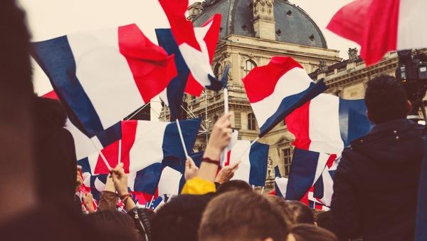 C'est le 14 juillet! Vive la France! Bleu Blanc Rouge