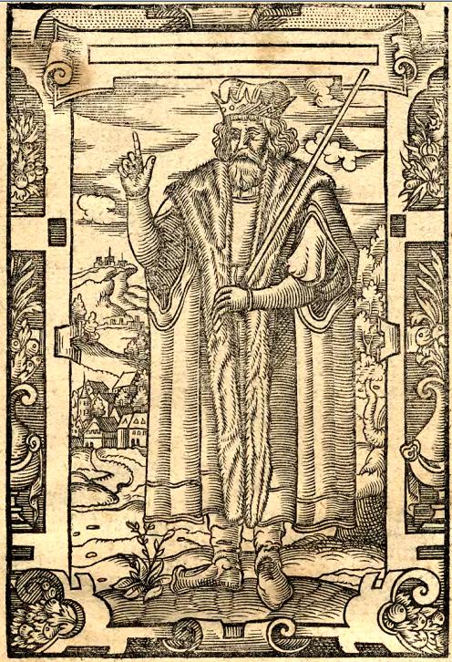 Piast, ilustracja z dzieła ks. Jana Głuchowskiego, Icones książąt i królów polskich, 1605.