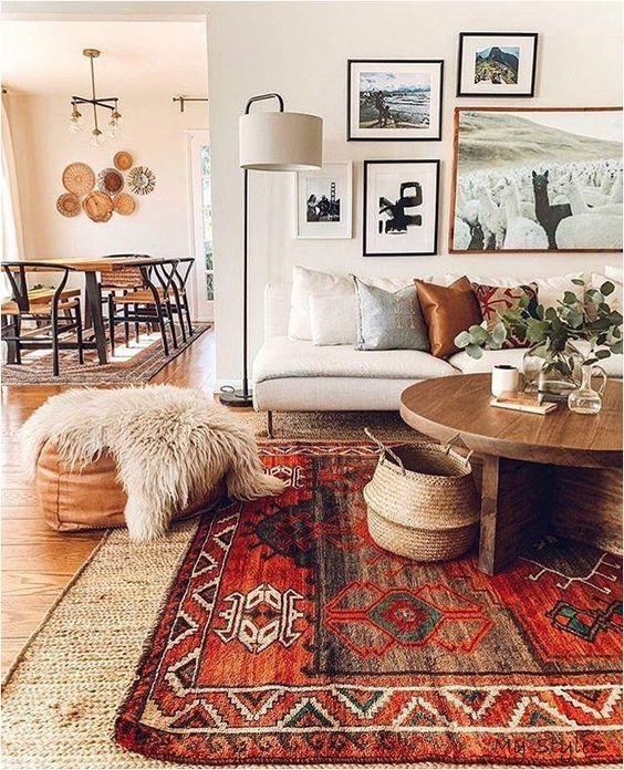 Estilos de decoración de interiores: estilo boho chic