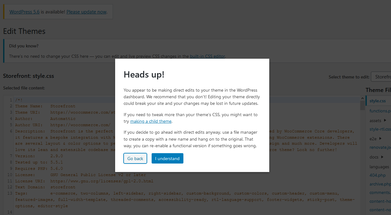 In-Dashboard WordPress Code Editor