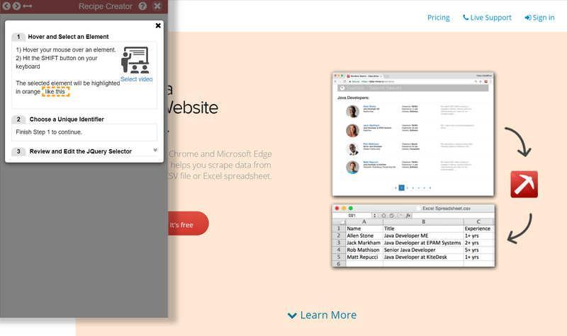 Data miner – расширение для Google Chrome и Microsoft Edge