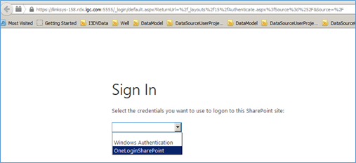 SharePoint Authentication - Sign in