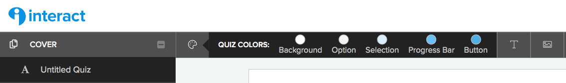 color and font bar at top of quiz builder