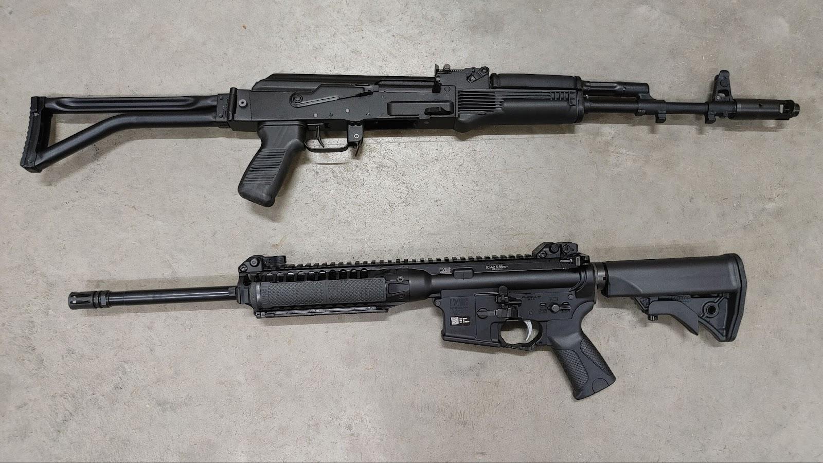 Arsenal AK-47 vs LWRC AR-15