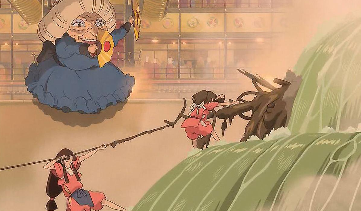 Chihiro help clean for the stinking client - Spirited Away