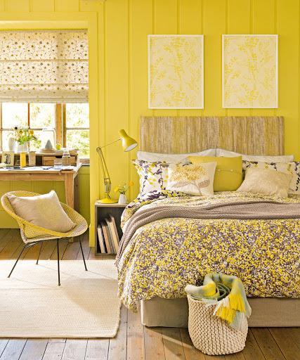 Graziose idee per la camera da letto di colore giallo per mattinate  soleggiate e sogni dorati - Casa Incantevole