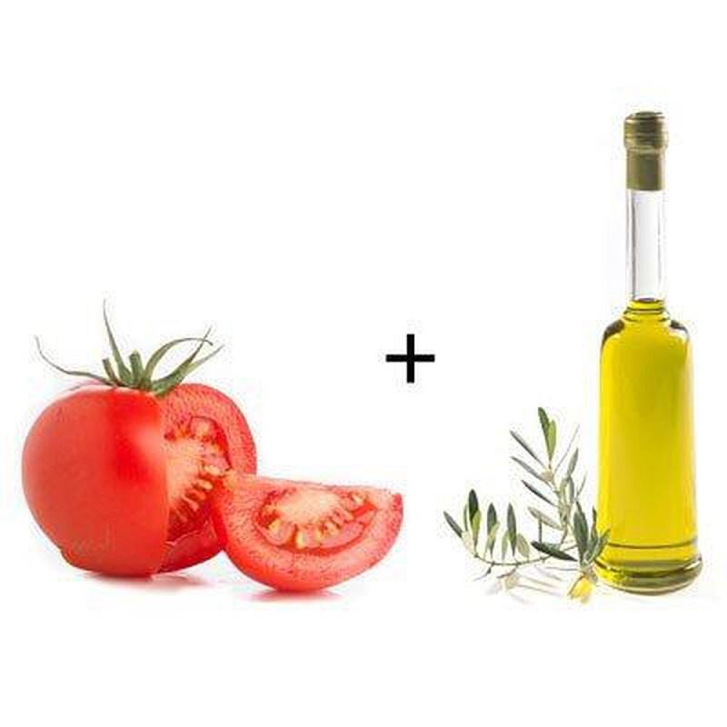 Cách trắng da với cà chua và dầu ô liu