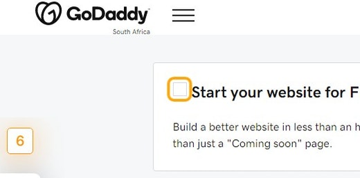 Uncheck Start your website for FREE.